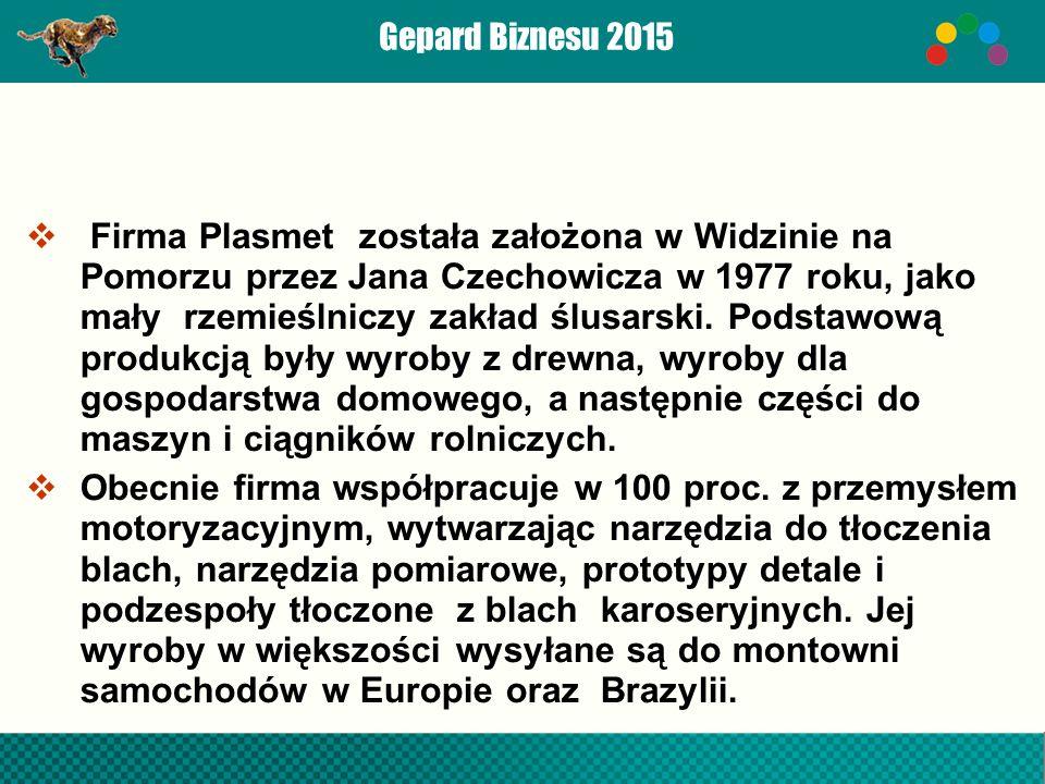  Firma Plasmet została założona w Widzinie na Pomorzu przez Jana Czechowicza w 1977 roku, jako mały rzemieślniczy zakład ślusarski.