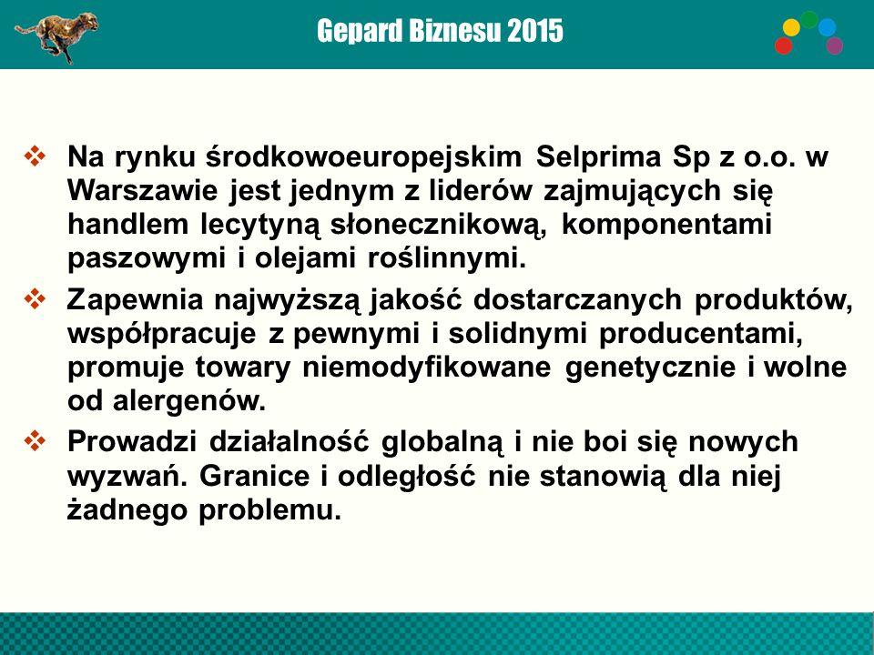  Na rynku środkowoeuropejskim Selprima Sp z o.o.