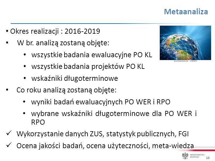10 Metaanaliza Okres realizacji : 2016-2019 W br.