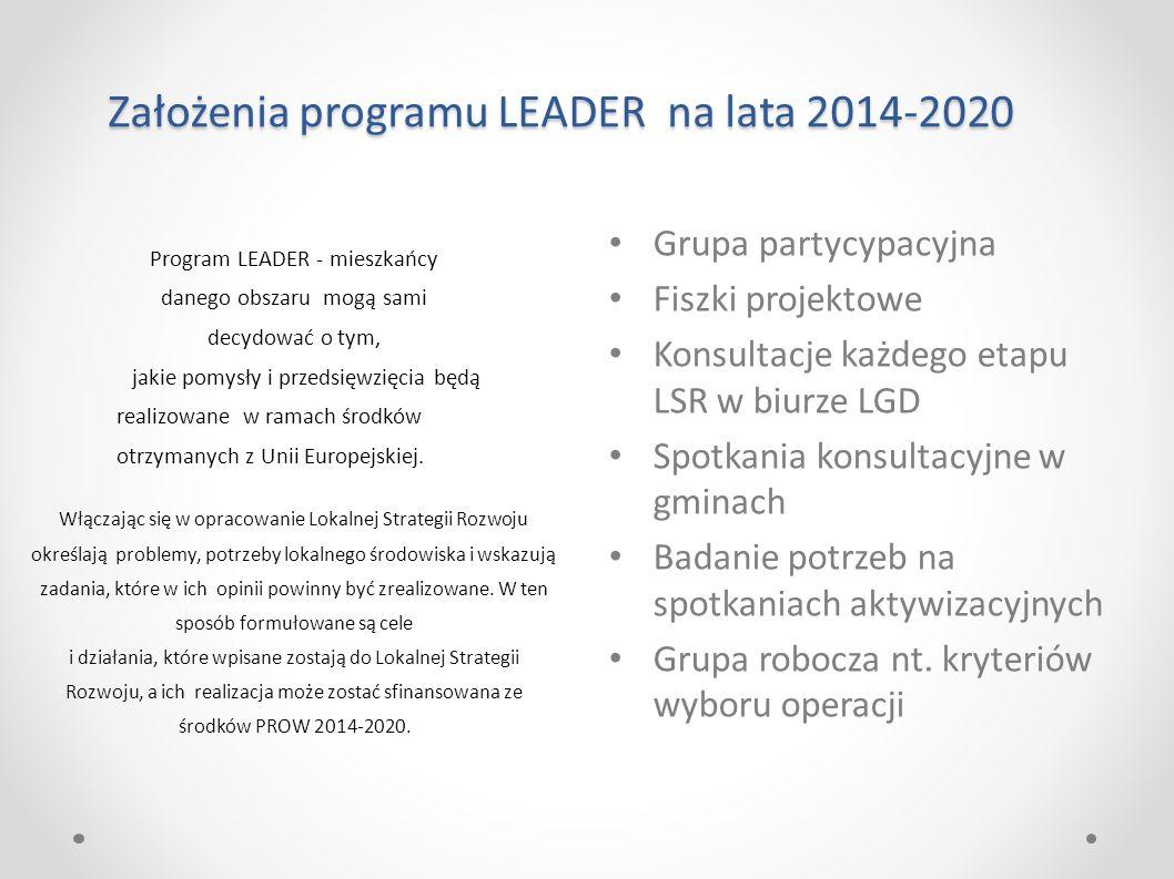 Program LEADER - mieszkańcy danego obszaru mogą sami decydować o tym, jakie pomysły i przedsięwzięcia będą realizowane w ramach środków otrzymanych z