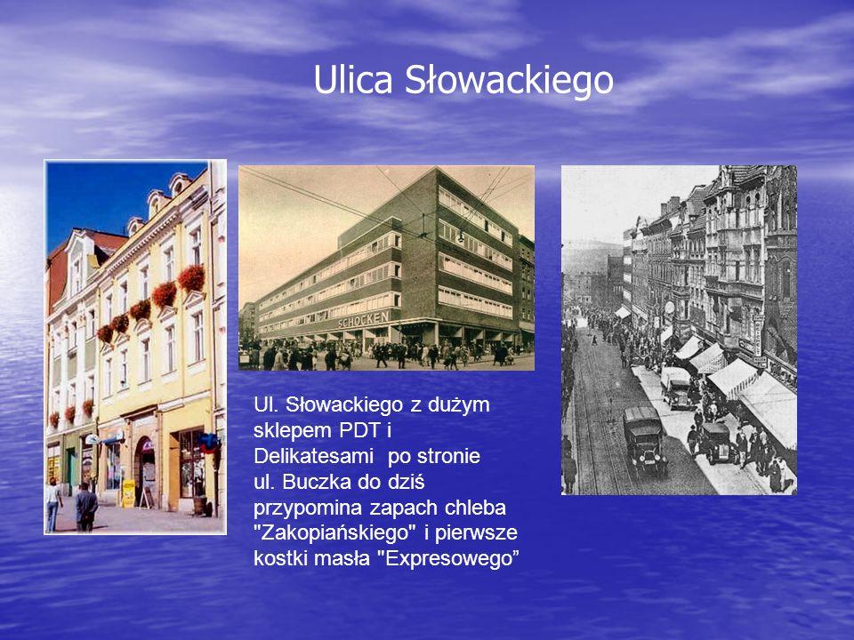 Ul. Słowackiego z dużym sklepem PDT i Delikatesami po stronie ul.
