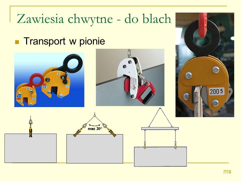 Zawiesia chwytne - do blach Transport w pionie ms