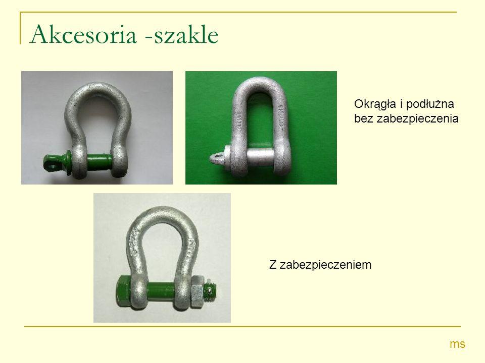 Akcesoria -szakle Okrągła i podłużna bez zabezpieczenia Z zabezpieczeniem ms