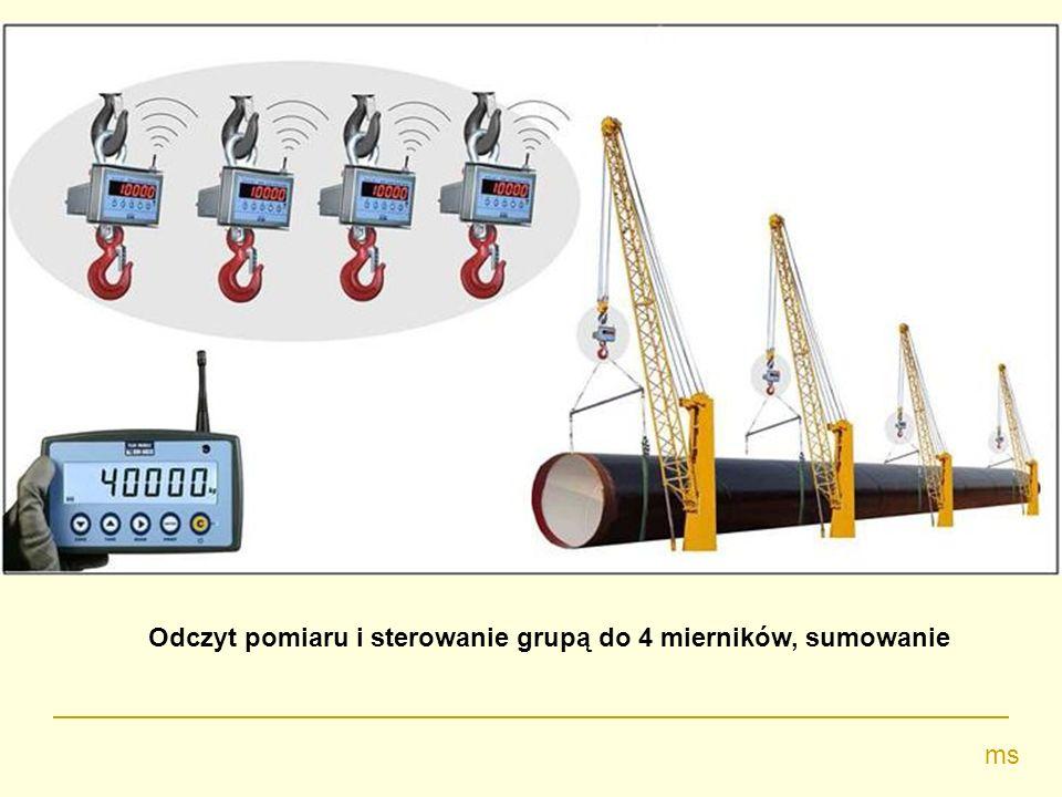 Odczyt pomiaru i sterowanie grupą do 4 mierników, sumowanie ms