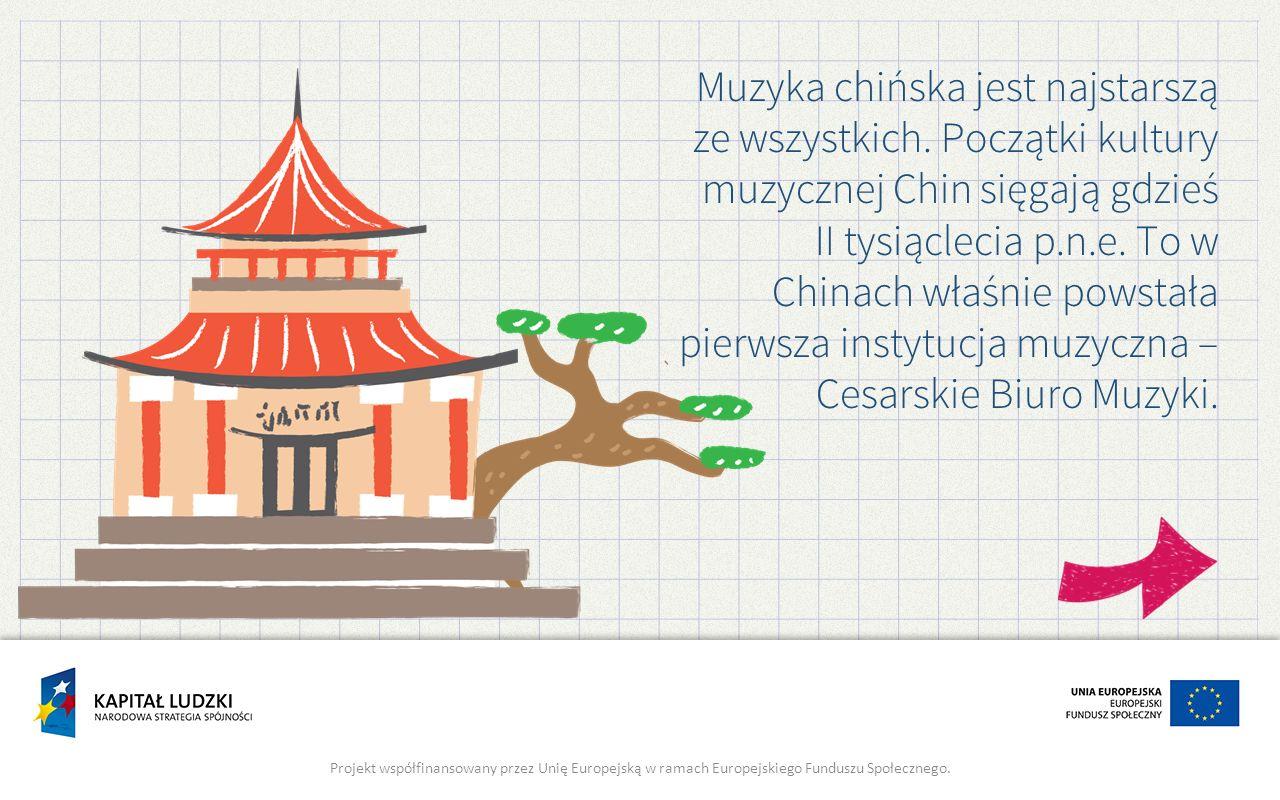 Muzyka chińska jest najstarszą ze wszystkich.