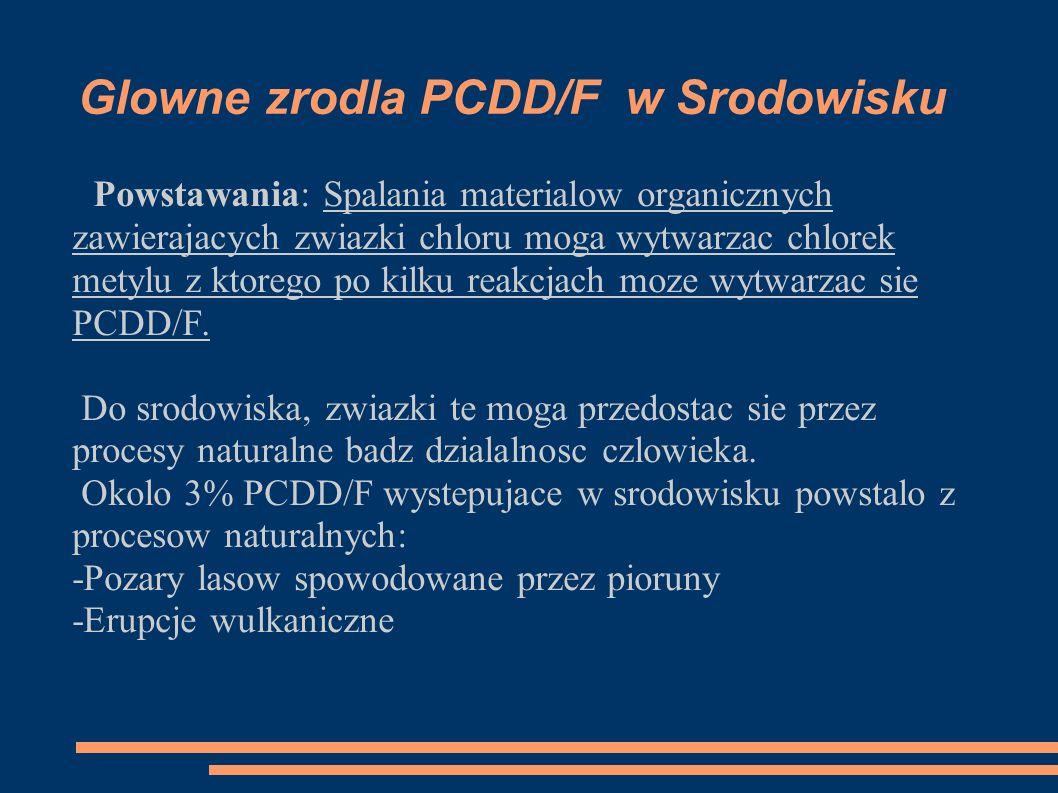 -Z analizy PCDD / F w osadach, które obejmowały osady rdzeniowe kilku jezior, było wskazane, że całkowita ilosc PCDD / F wzrosła 25 razy w ciągu 35 lat w okresie 1935/70.