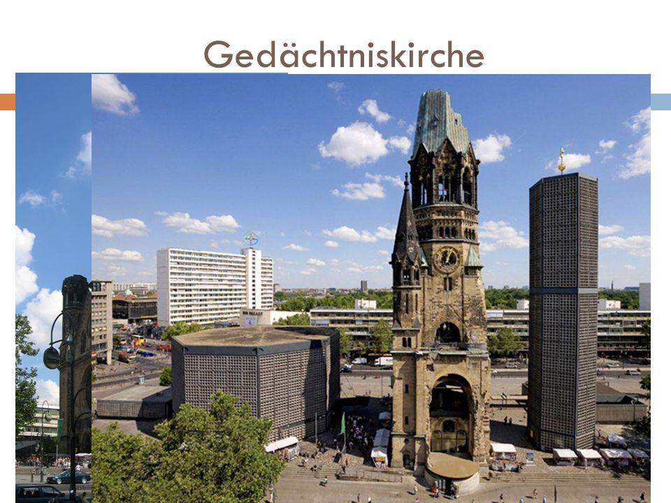 Gedächtniskirche Kościół Pamięci Cesarza Wilhelma świątynia ewangelicka położona w Berlinie przy Breitscheidplatz, w pobliżu ulicy Kurfürstendamm w dz