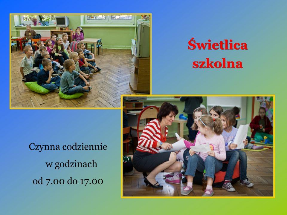 Czynna codziennie w godzinach od 7.00 do 17.00 Świetlica szkolna Świetlica szkolna