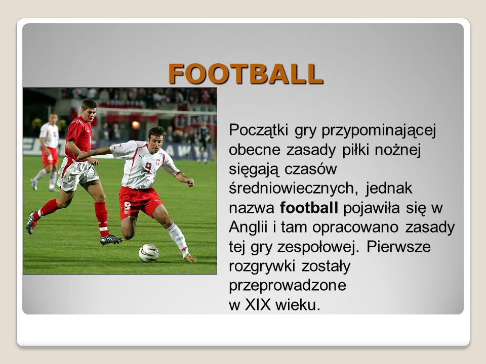 Początki gry przypominającej obecne zasady piłki nożnej sięgają czasów średniowiecznych, jednak nazwa football pojawiła się w Anglii i tam opracowano zasady tej gry zespołowej.