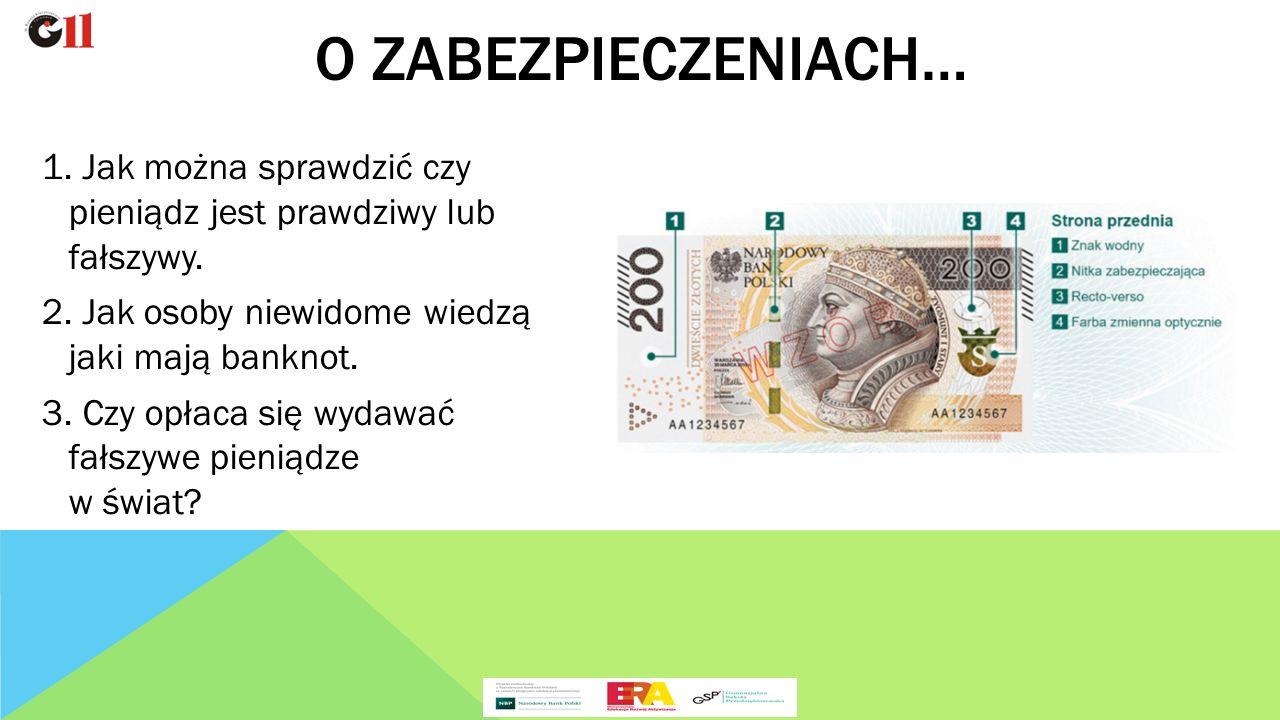 1. Jak można sprawdzić czy pieniądz jest prawdziwy lub fałszywy.