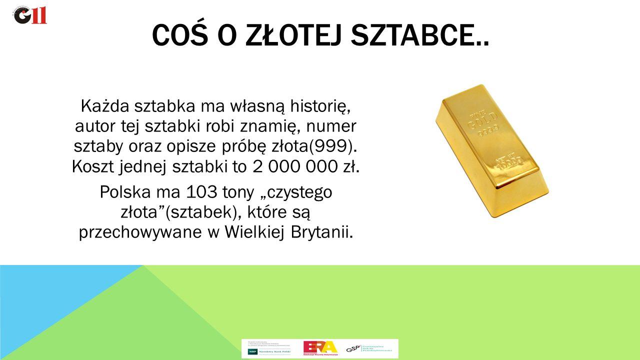 Każda sztabka ma własną historię, autor tej sztabki robi znamię, numer sztaby oraz opisze próbę złota(999).