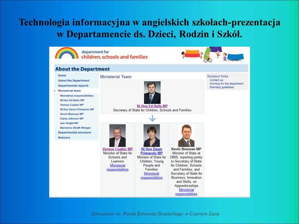 Technologia informacyjna w angielskich szkołach-prezentacja w Departamencie ds.