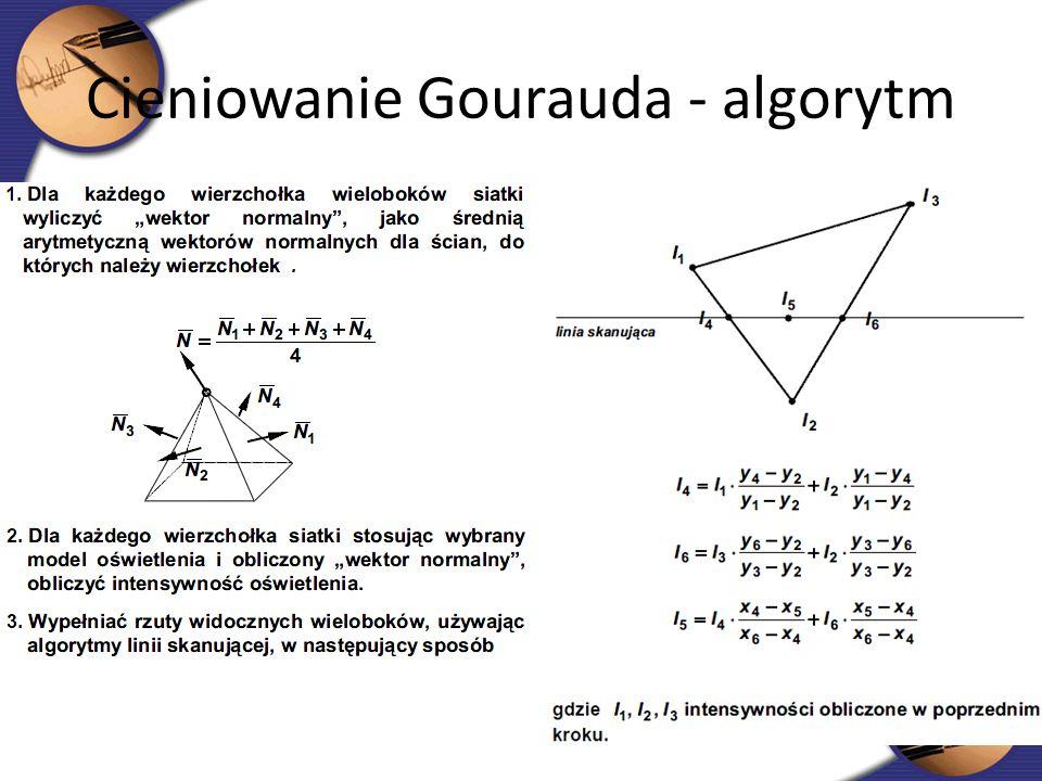 Cieniowanie Gourauda - algorytm