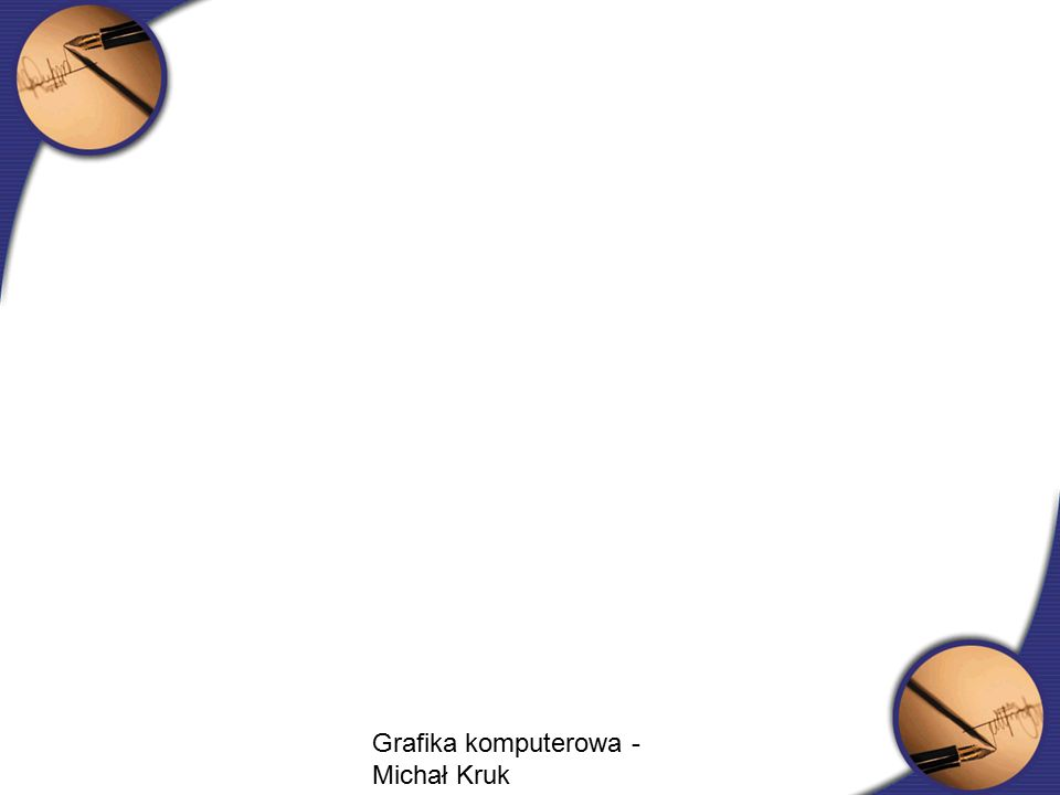 Cieniowanie płaskie Model oświetlenia jest używany tylko raz w celu obliczenia jednej wartości natężenia, która jest później używana do cieniowania całego wielokąta Podejście dobre gdy: –Źródło światła jest w nieskończoności – N*L jest stałe na całej powierzchni wielokąta –Obserwator jest w nieskończoności – N*L jest stałe na całej powierzchni wielokąta –Wielokąt reprezentuje faktyczną powierzchnię modelowaną