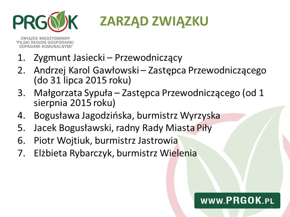 2 1.Zygmunt Jasiecki – Przewodniczący 2.Andrzej Karol Gawłowski – Zastępca Przewodniczącego (do 31 lipca 2015 roku) 3.Małgorzata Sypuła – Zastępca Prz