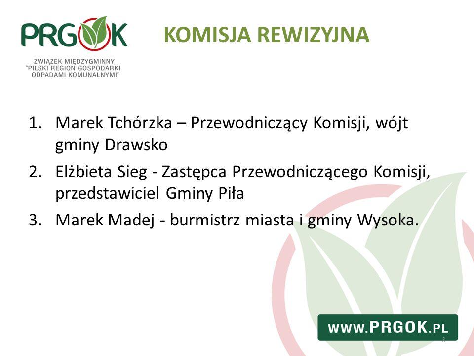 3 1.Marek Tchórzka – Przewodniczący Komisji, wójt gminy Drawsko 2.Elżbieta Sieg - Zastępca Przewodniczącego Komisji, przedstawiciel Gminy Piła 3.Marek