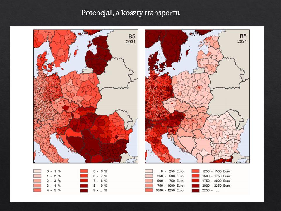 Potencja ł, a koszty transportu