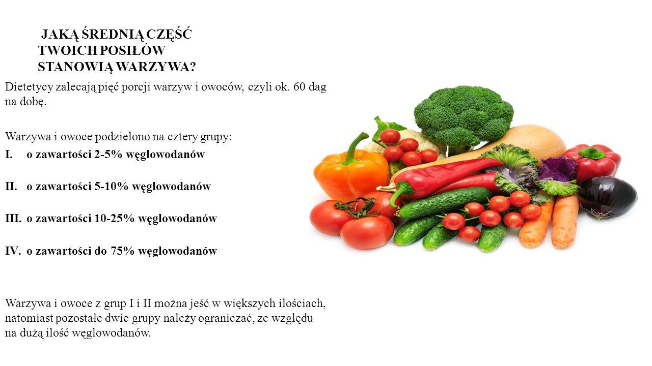 Dietetycy zalecają pięć porcji warzyw i owoców, czyli ok.