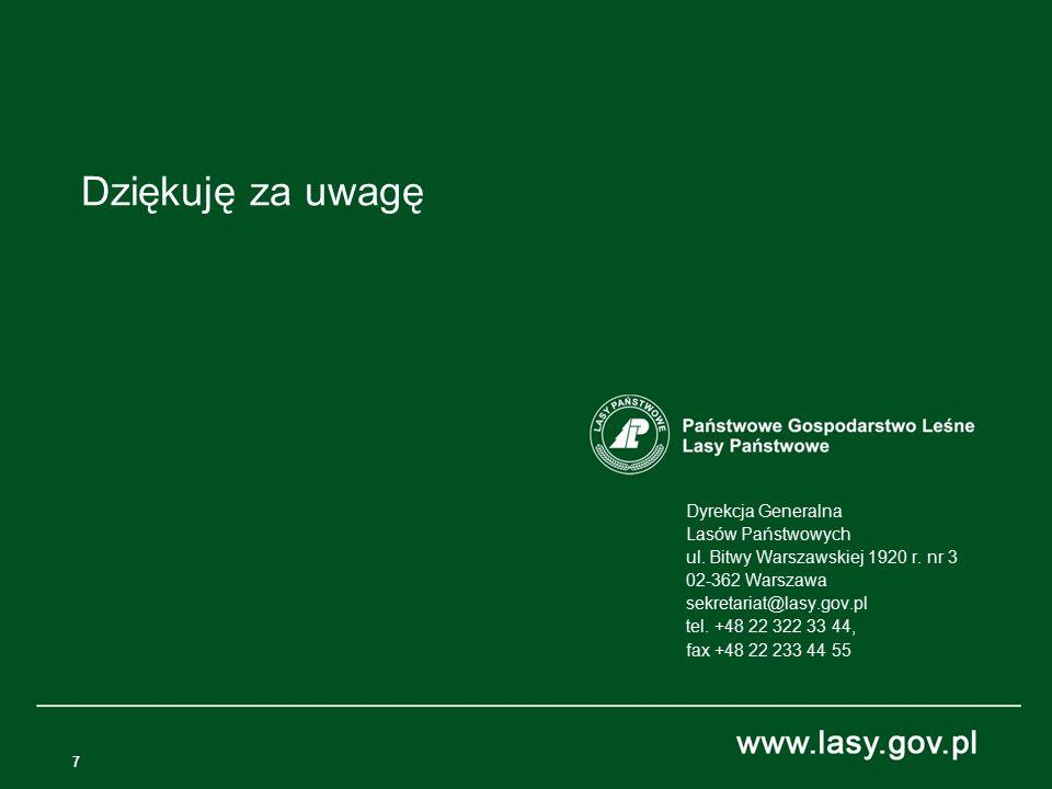 7 Dyrekcja Generalna Lasów Państwowych ul. Bitwy Warszawskiej 1920 r.