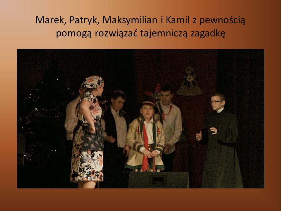 Marek, Patryk, Maksymilian i Kamil z pewnością pomogą rozwiązać tajemniczą zagadkę