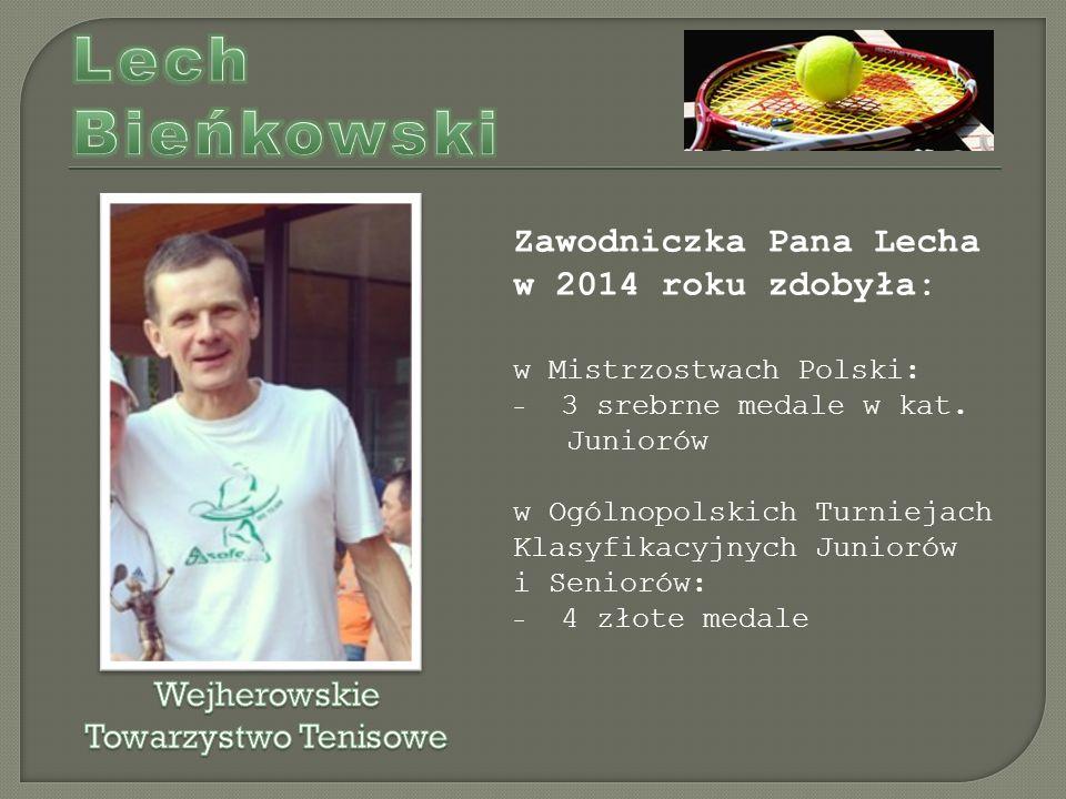 Zawodniczka Pana Lecha w 2014 roku zdobyła: w Mistrzostwach Polski: - 3 srebrne medale w kat.