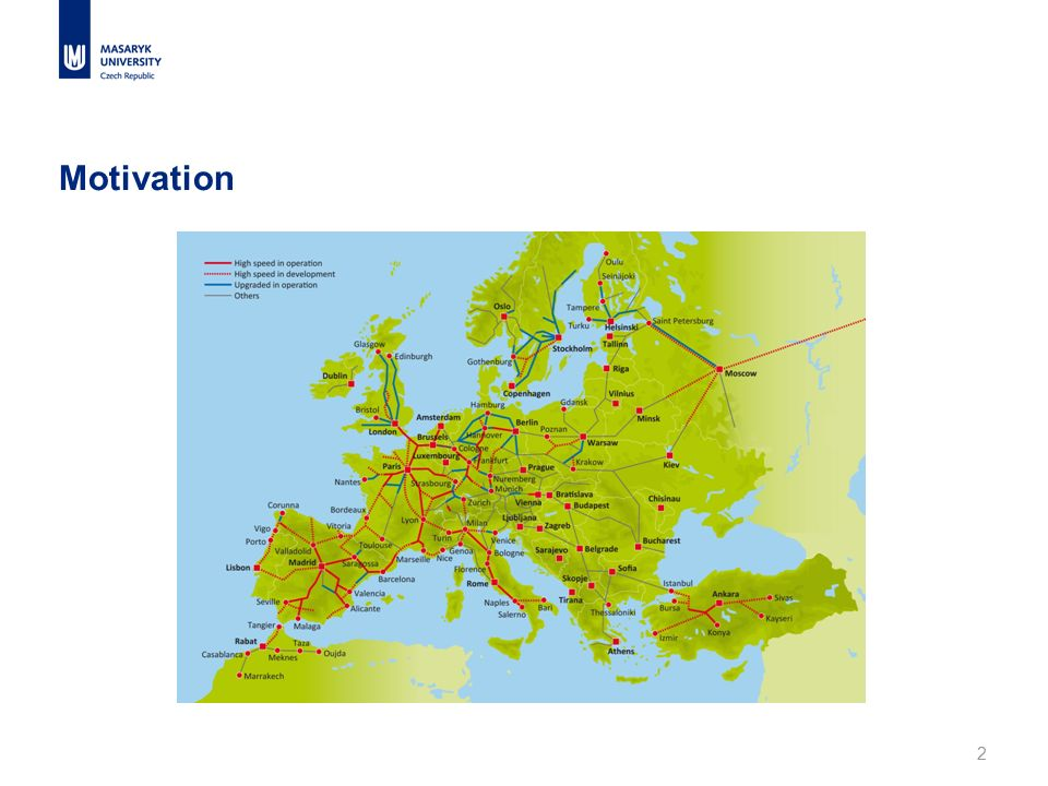 3 European x national strategies European strategy → promotion of TEN network; to establish the key links to facilitate transport in the EU; international focus National strategies → to connect main centres of economic activity within one country; domestic regional and political issues; national focus