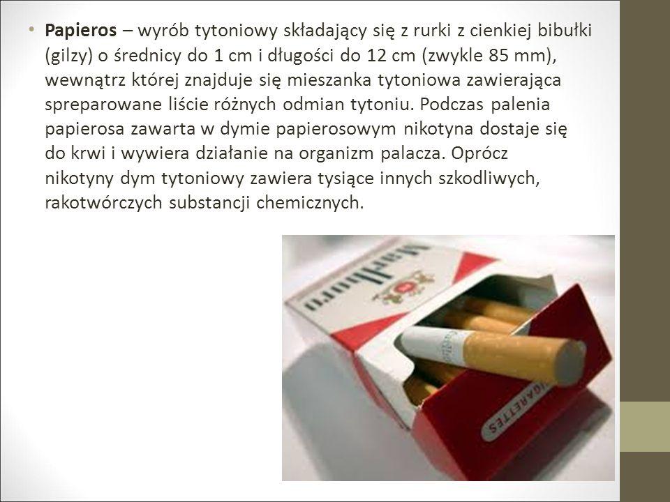 Papieros – wyrób tytoniowy składający się z rurki z cienkiej bibułki (gilzy) o średnicy do 1 cm i długości do 12 cm (zwykle 85 mm), wewnątrz której znajduje się mieszanka tytoniowa zawierająca spreparowane liście różnych odmian tytoniu.