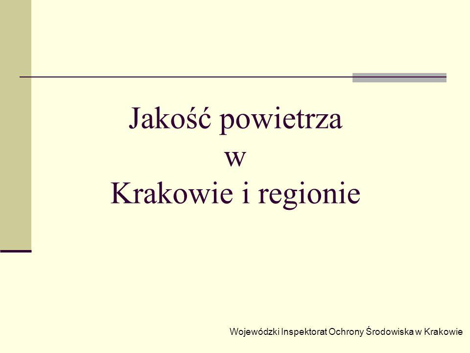 Jakość powietrza w Krakowie i regionie Wojewódzki Inspektorat Ochrony Środowiska w Krakowie