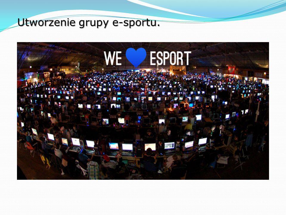 Utworzenie grupy e-sportu.