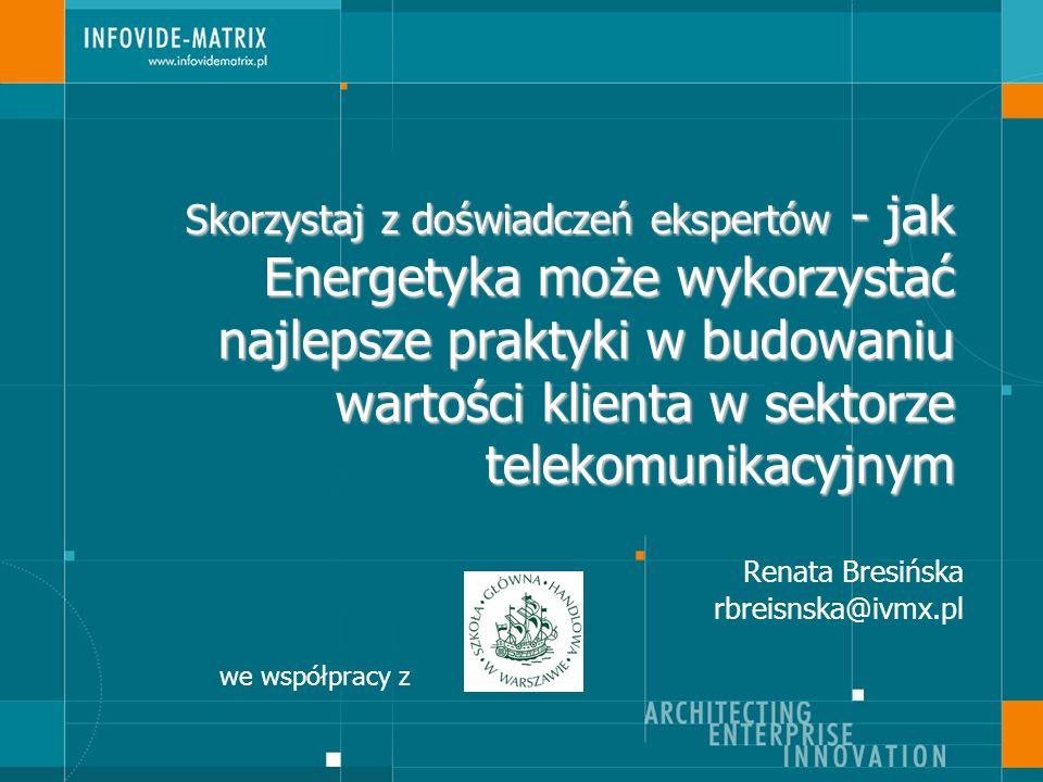 2 Zmiany na rynku energetycznym Zmiany – Prawo wyboru dostawcy energii:1 lipca 2007 – Uwolnienie cen energii:1 stycznia 2009 – Zapowiedź URE intensyfikacji działań w celu otwarcia rynku Wyzwania – Pozyskanie klientów – Maksymalizacja przychodu – Zapobieganie odejściom
