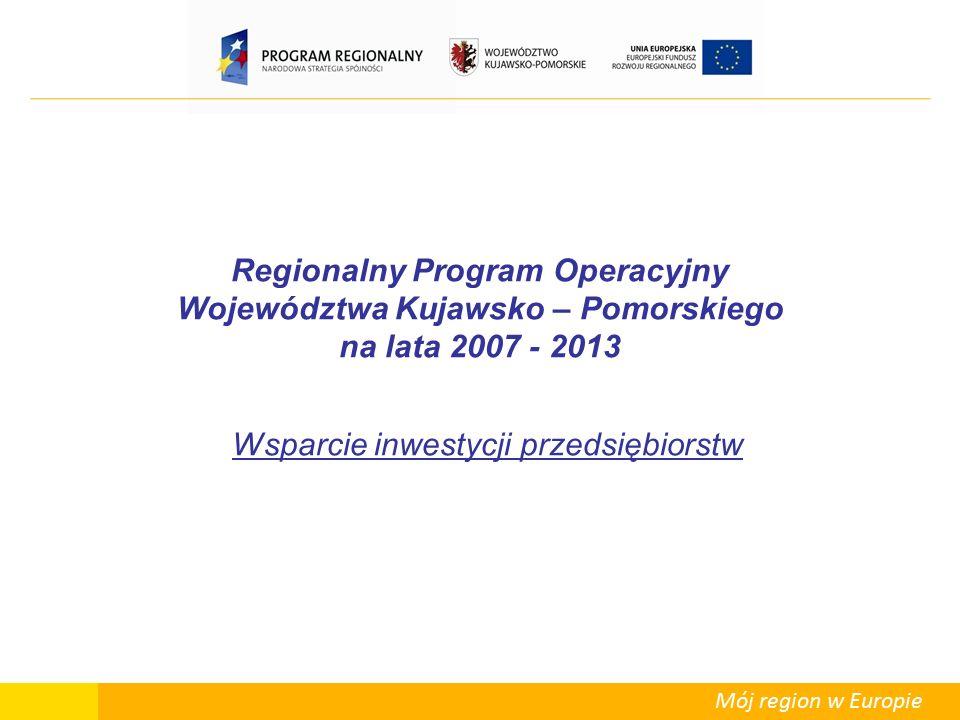 Mój region w Europie Regionalna pomoc inwestycyjna – podstawowe pojęcia i zasady  Maksymalna intensywność regionalnej pomocy inwestycyjnej została określona w rozporządzeniu RM z 13.10.2006r.