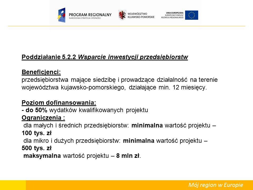 Mój region w Europie Departament Polityki Regionalnej kontakt: tel.