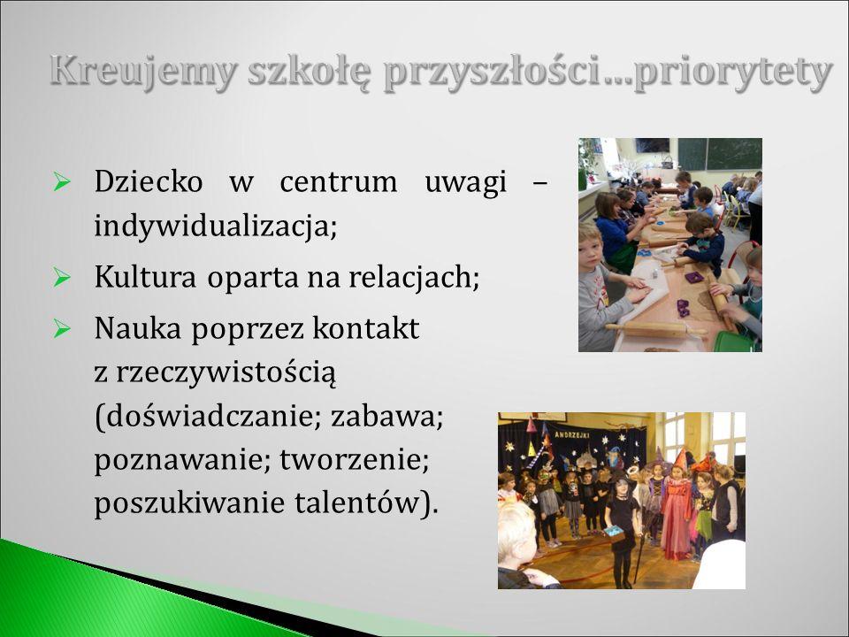  Edukacja polonistyczna, matematyczna, przyrodnicza, muzyczna, plastyczna, wychowanie fizyczne;  Zajęcia komputerowe (1x w tygodniu);  Język angielski (2x w tygodniu);  Religia (2x w tygodniu).