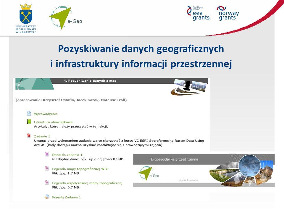 Pozyskiwanie danych geograficznych i infrastruktury informacji przestrzennej