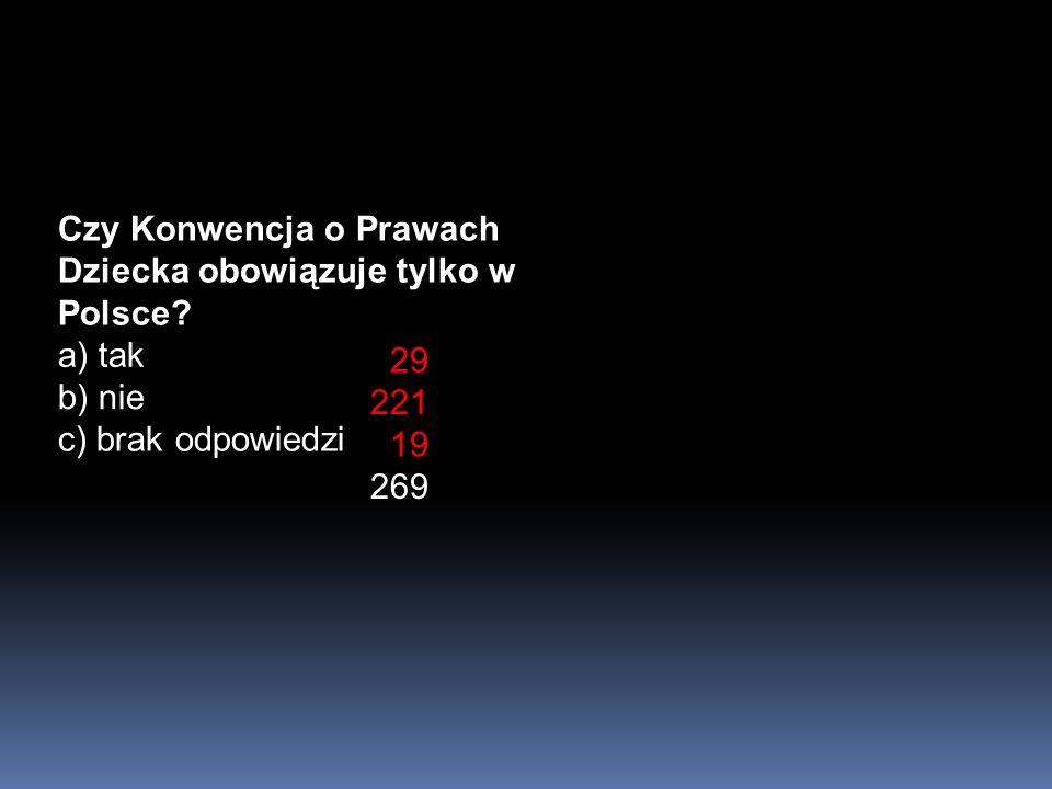 Czy Konwencja o Prawach Dziecka obowiązuje tylko w Polsce.