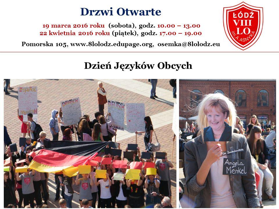 Dzień Języków Obcych Drzwi Otwarte 19 marca 2016 roku (sobota), godz.