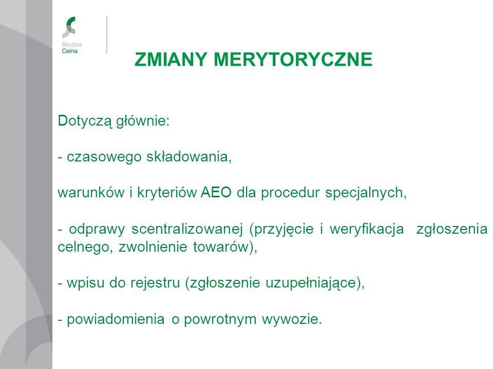 ZMIANY MERYTORYCZNE art.83 ust.
