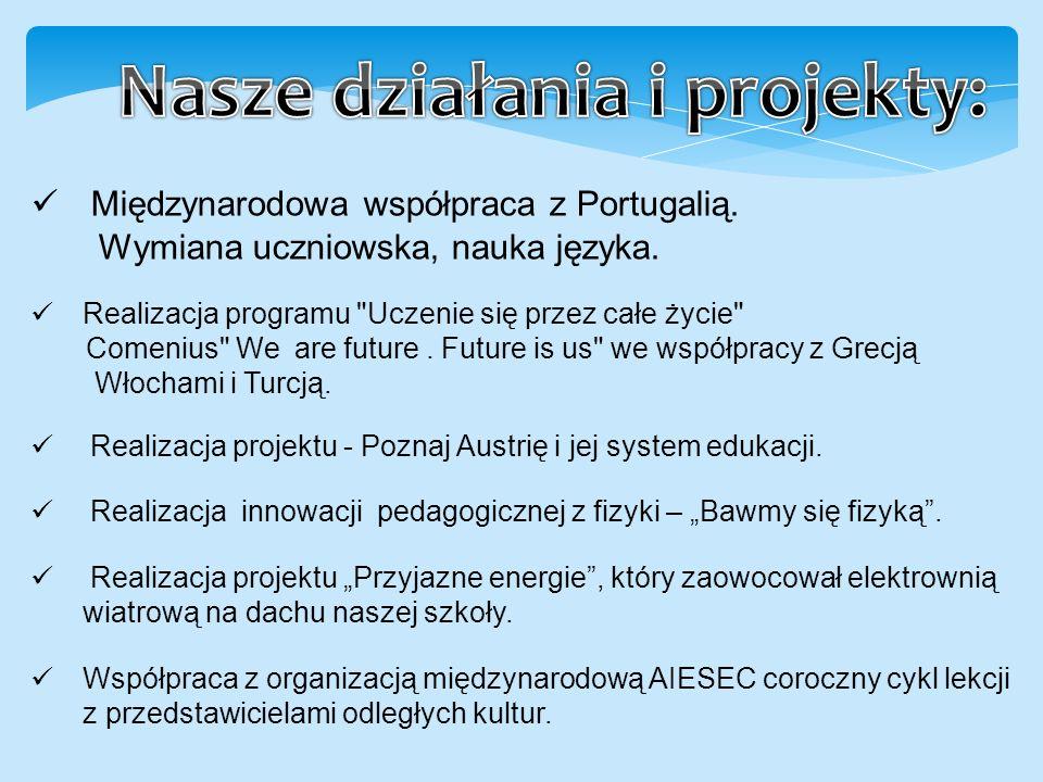 Międzynarodowa współpraca z Portugalią. Wymiana uczniowska, nauka języka.