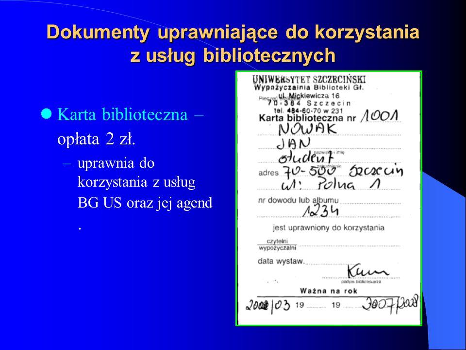 Zasady korzystanie z BG US Dokonanie elektronicznej wstępnej rejestracji na stronie BG US :http://bg.univ.szczecin.pl/http://bg.univ.szczecin.pl/ Zgłoszenie się do wypożyczalni BG US z: –dowodem osobistym, legitymacją studencką (lub zaświadczeniem z dziekanatu), –numerem elektronicznej rejestracji