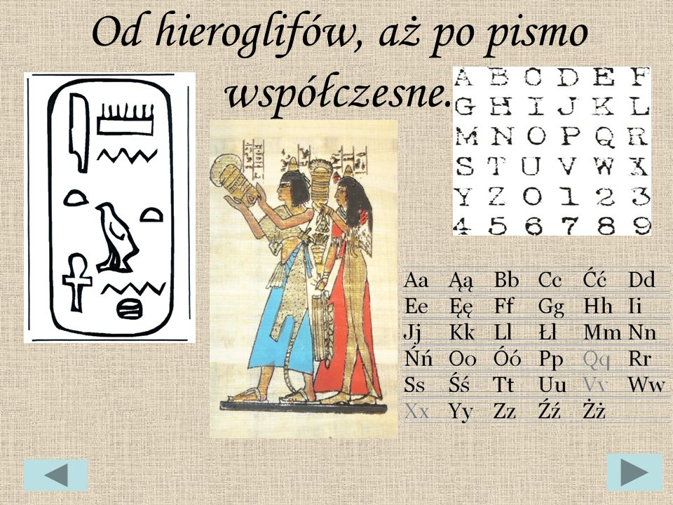Etapy rozwoju pisma.Pierwszy alfabet literowy stworzyli Fenicjanie.