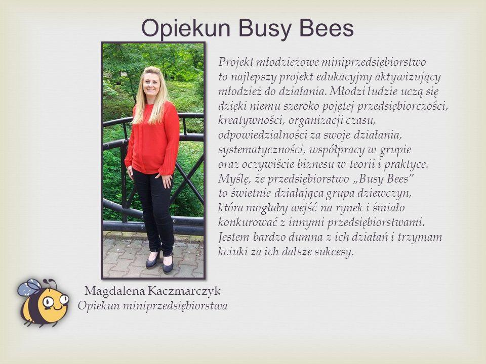 Opiekun Busy Bees Projekt młodzieżowe miniprzedsiębiorstwo to najlepszy projekt edukacyjny aktywizujący młodzież do działania.
