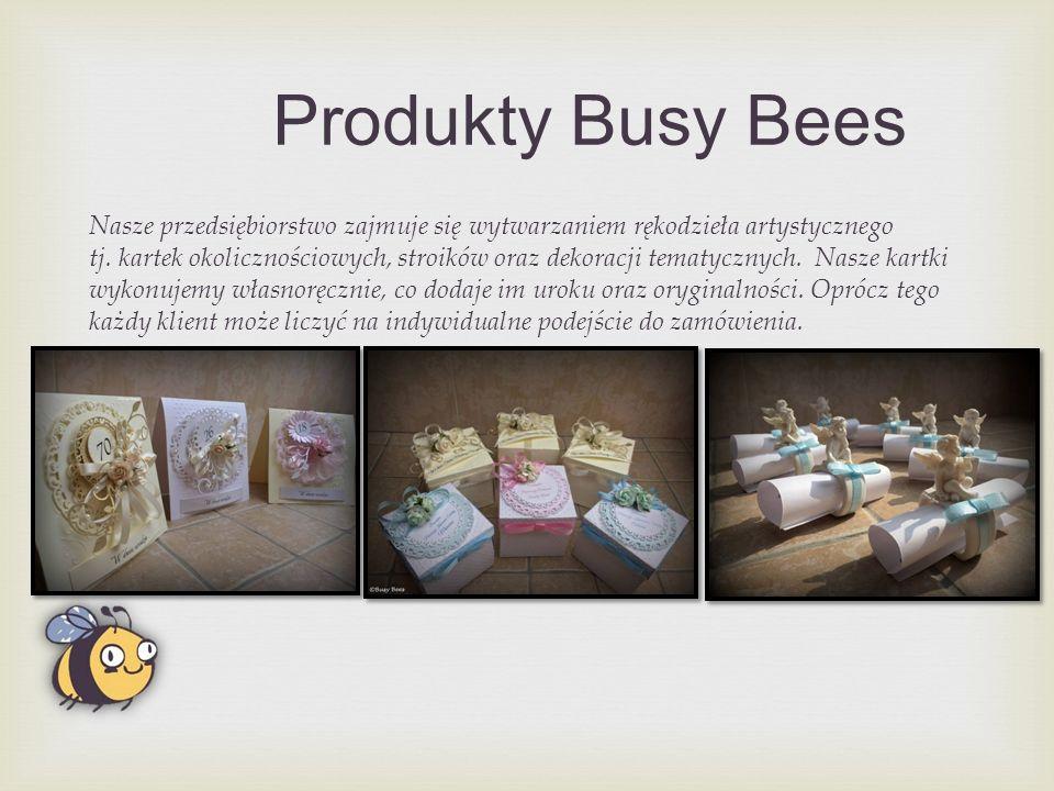 Produkty Busy Bees Nasze przedsiębiorstwo zajmuje się wytwarzaniem rękodzieła artystycznego tj.