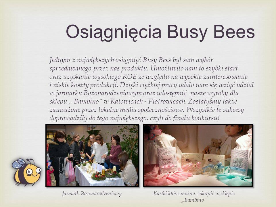 Osiągnięcia Busy Bees Jednym z największych osiągnięć Busy Bees był sam wybór sprzedawanego przez nas produktu.