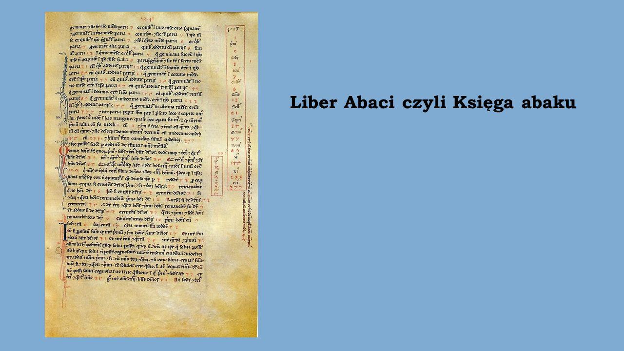 Liber Abaci czyli Księga abaku