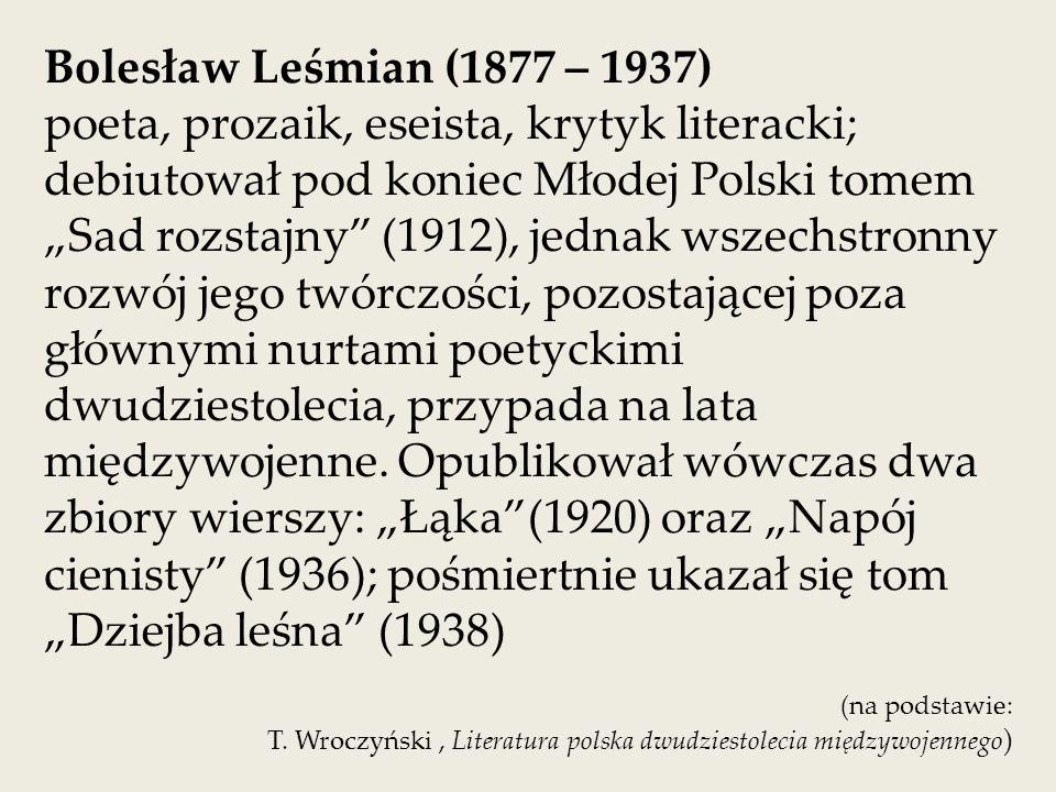 Koncepcja języka poetyckiego Bolesława Leśmiana