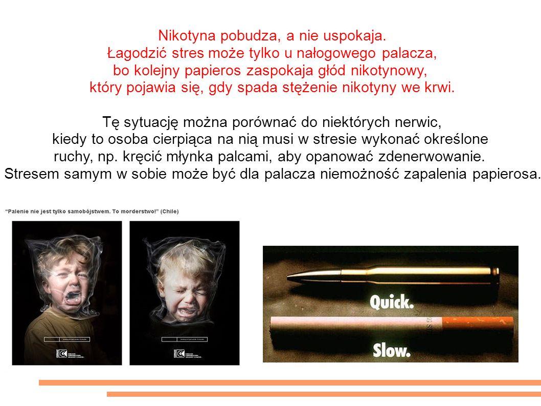 To nie prawda ze papierosy łagodzą stres. Nikotyna pobudza, a nie uspokaja.
