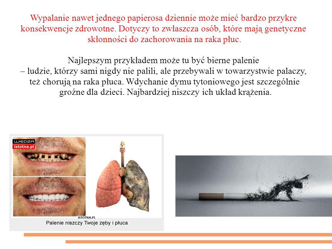 To nieprawda, że kilka papierosów dziennie nie szkodzi Wypalanie nawet jednego papierosa dziennie może mieć bardzo przykre konsekwencje zdrowotne.