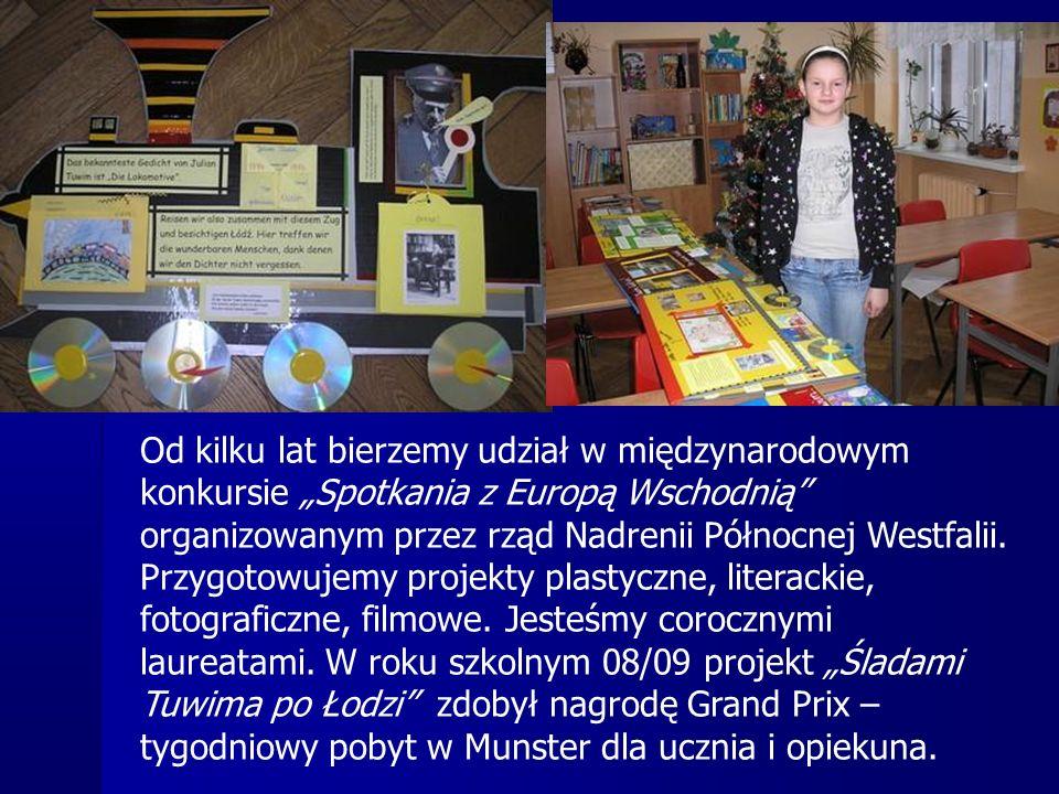 """Od kilku lat bierzemy udział w międzynarodowym konkursie """"Spotkania z Europą Wschodnią organizowanym przez rząd Nadrenii Północnej Westfalii."""
