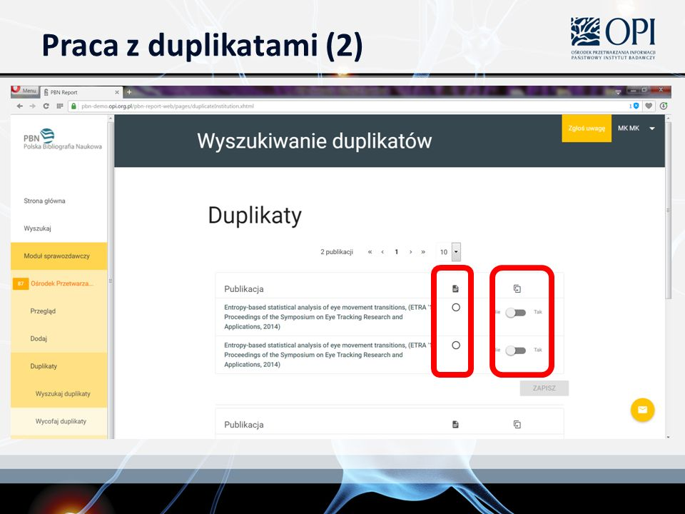 Praca z duplikatami (2)