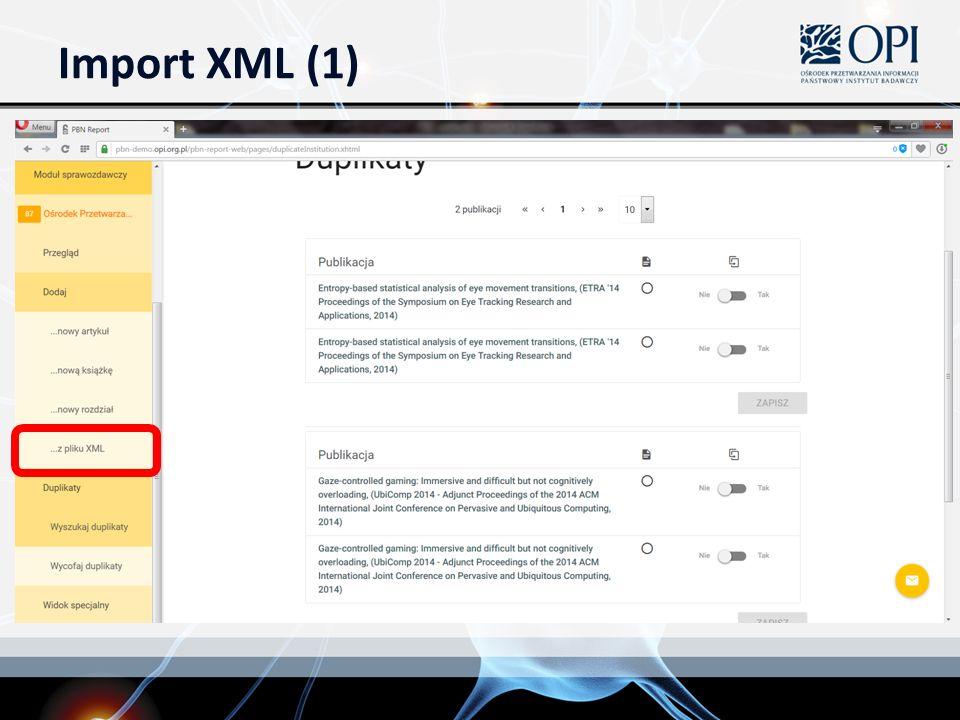 Import XML (1)